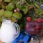 Estonia raspberry semolina mousse