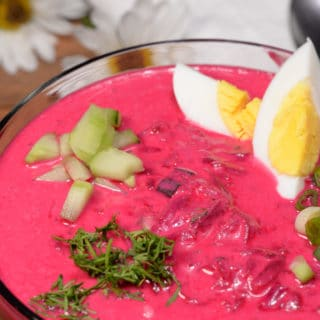 Latvian Cold Beet soup