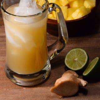 Liberian pineapple ginger beer