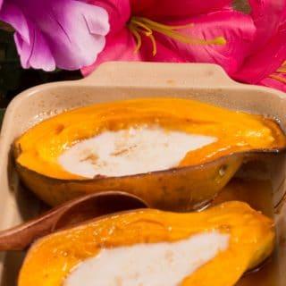 Marshallese baked papaya