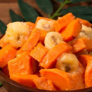Micronesian sweet potatoes and bananas