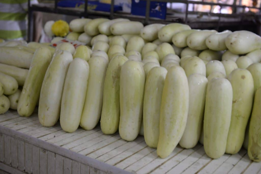 white cucumbers