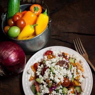 Montengrin Sopska Salad