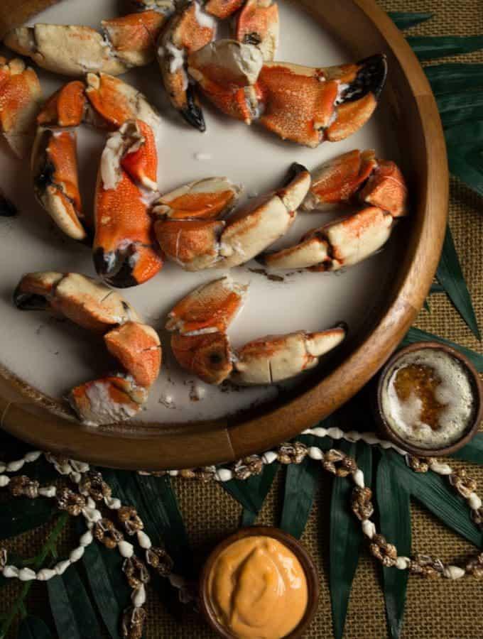 Nauru crabs in coconut milk
