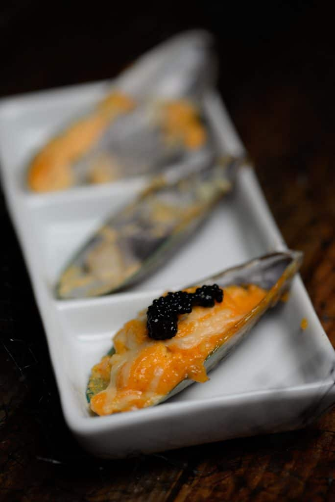 New Zealand baked mussels