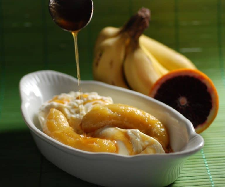 Bananas in Orange Sauce - International Cuisine