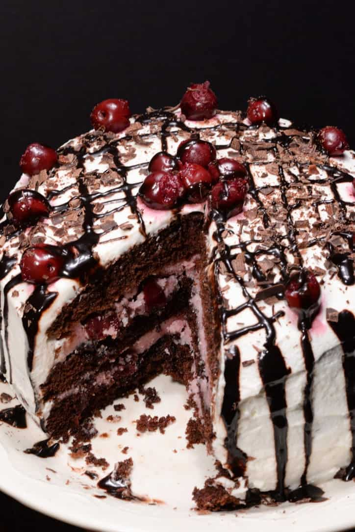 Kirsch Kuchen (German Black Forest Cake) - International Cuisine   {Küchenmöbel made in germany 40}