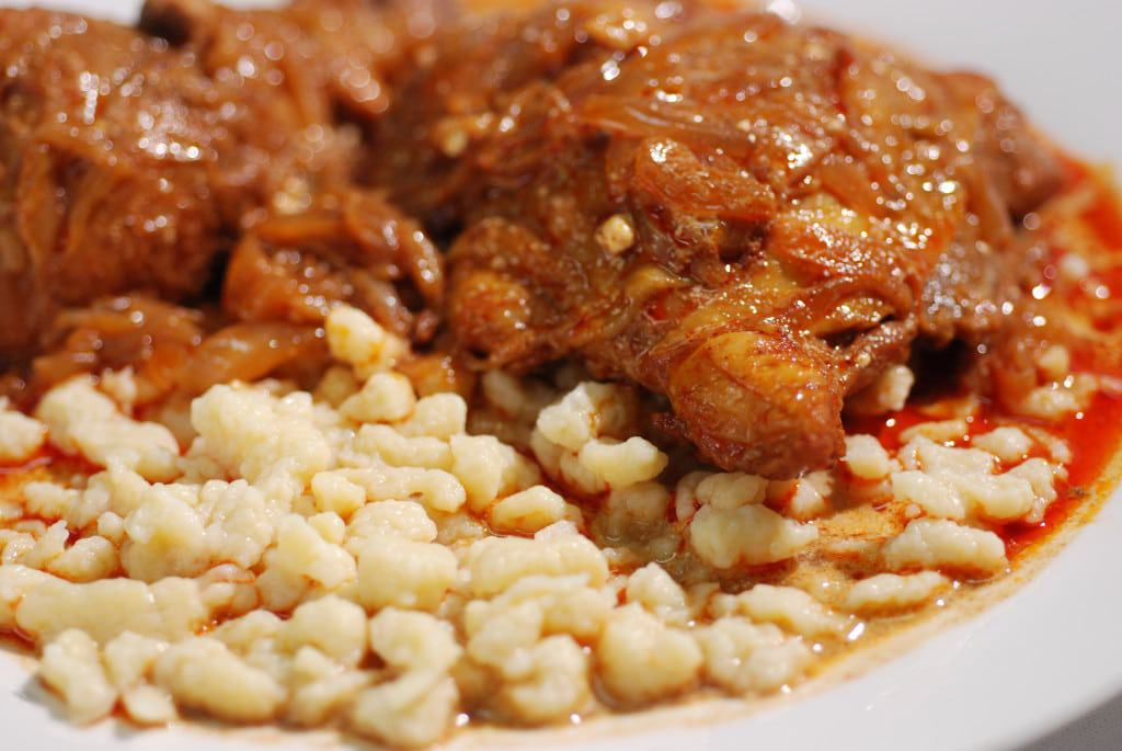 Chicken Paprikash With Nokedli (Csirke Paprikas) Recipe ...
