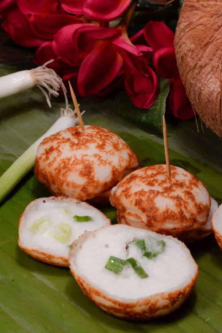 laotian coconut cakes kanom krok international cuisine