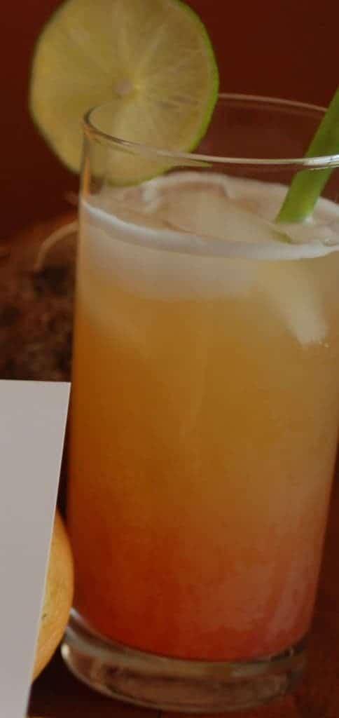 Antigua rum punch