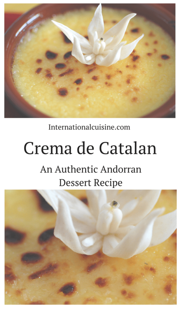 A dish of crema de catalan