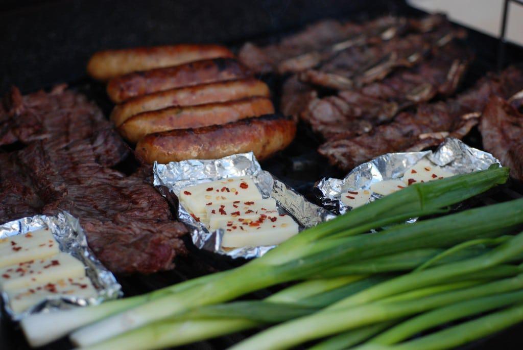 Argentina asado on grill_