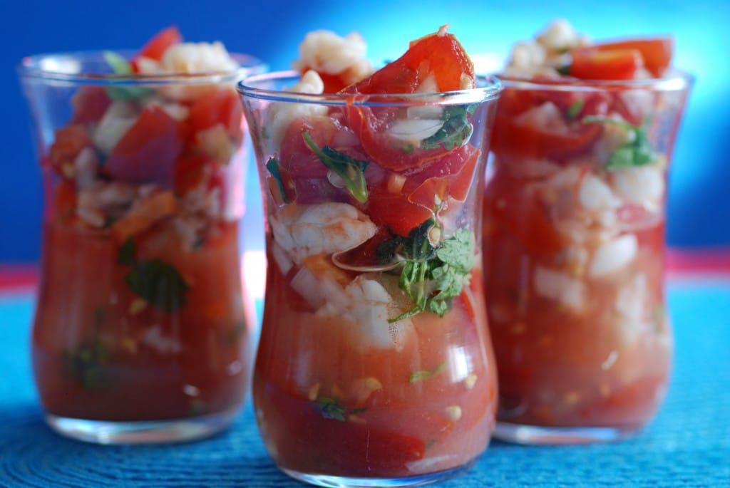 Belize shrimp ceviche