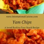 A picture of yam chips