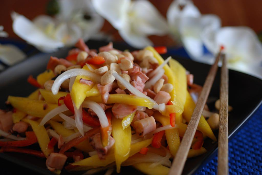 Cambodia Squid and mango salad
