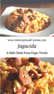 A bowl of Rice with Sausage called Jag.