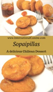 Pumpkin colored Sopaipillas with a sugary syrup on top.