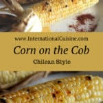 Grilled Corn on cob in the husk with chili-lime butter