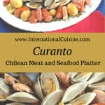 Chile curanto is a giant platter of meat, seafood and vegetables