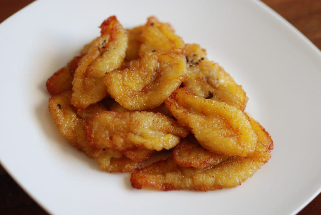Colombia fried Plantains