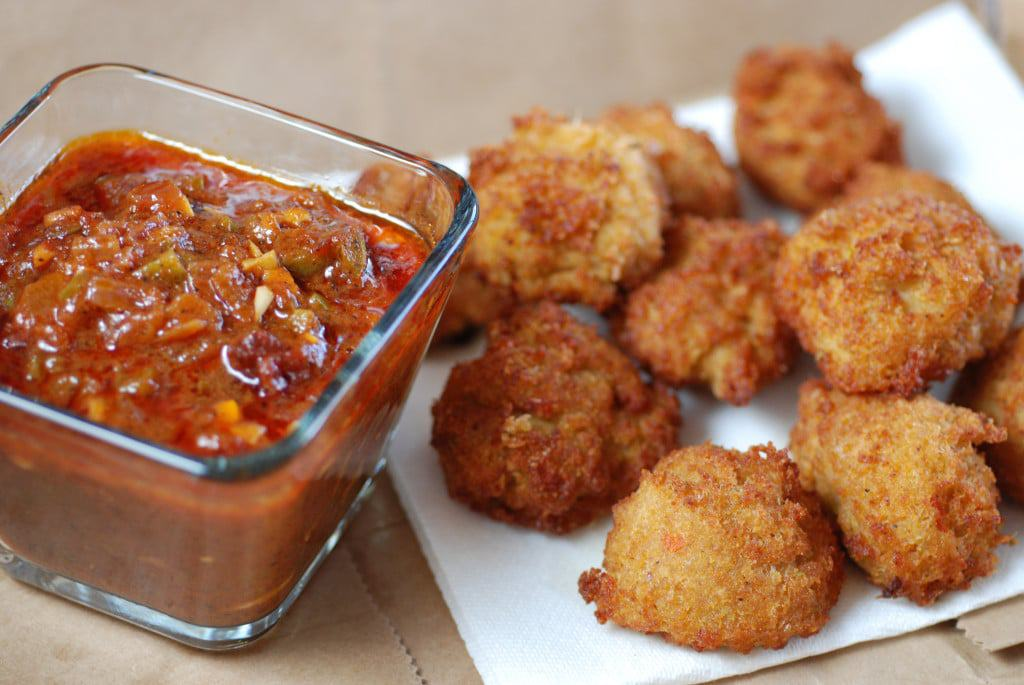 Akara with Dipping Sauce