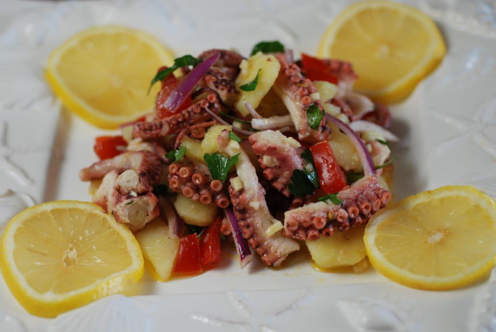 Croatia octopus salad