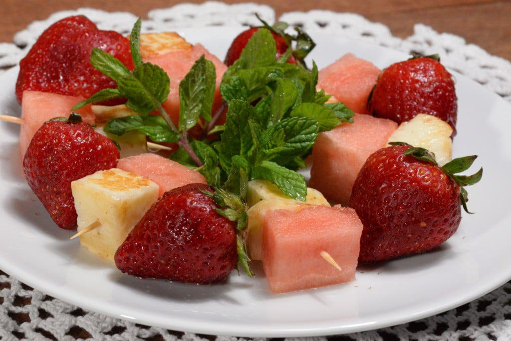 Cyprus halloumi with watermelon