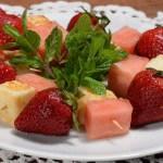 Cyprus halloumi with watermelon