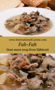 a bown of fah-fah or goat meat soup from Djibouti