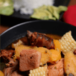 A giant bowl of Sancocho from the Dominican Republic