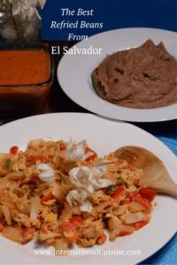 A big bowl of delicioius refried beans from El Salvador
