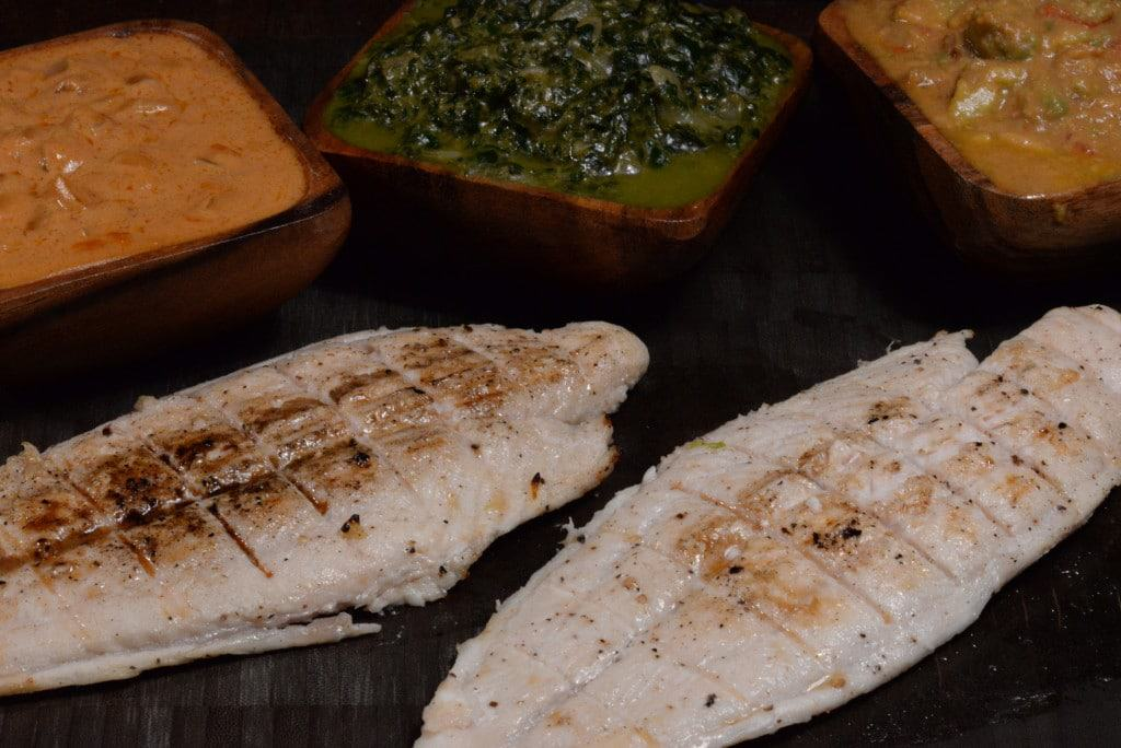 Equatorial Guinea Fish with three sauces