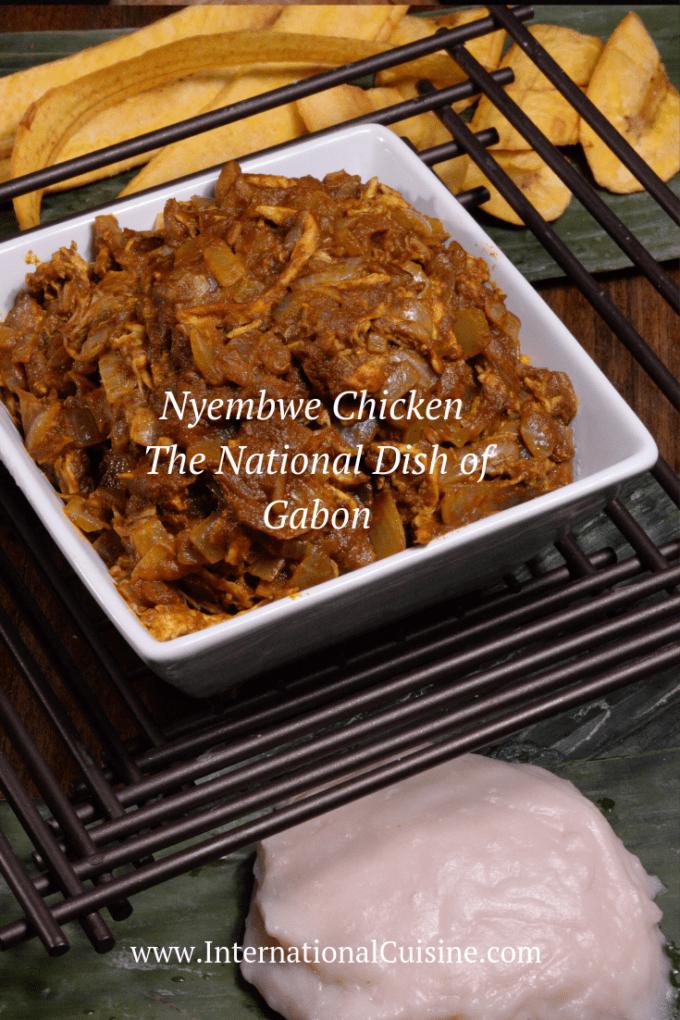 A bowl full Nyembwe the national dish of Gabon.