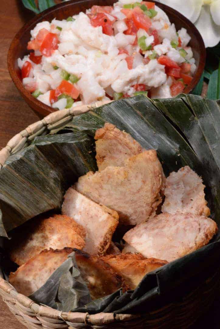 fiji fried taro root