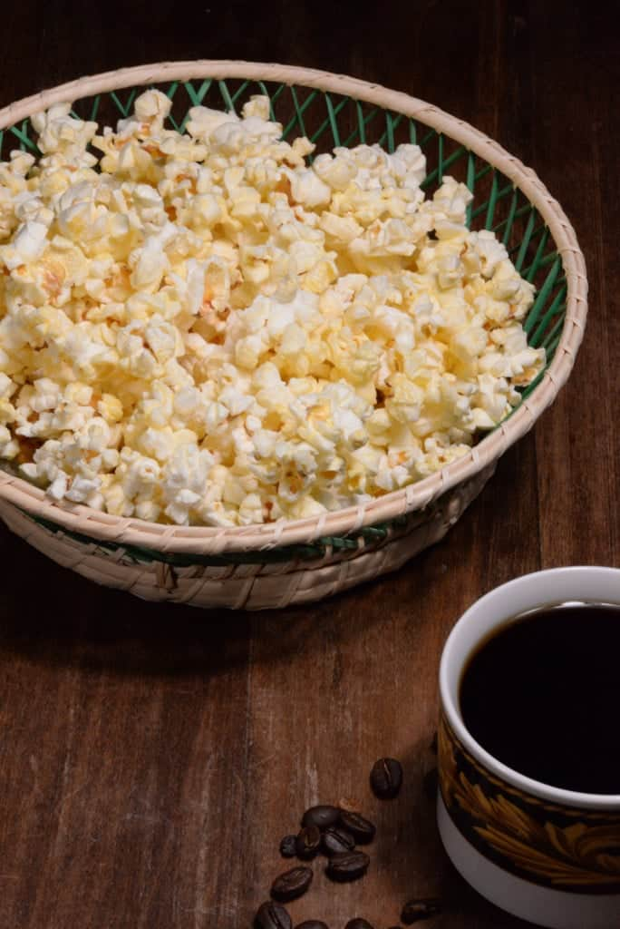 popcorn and coffee