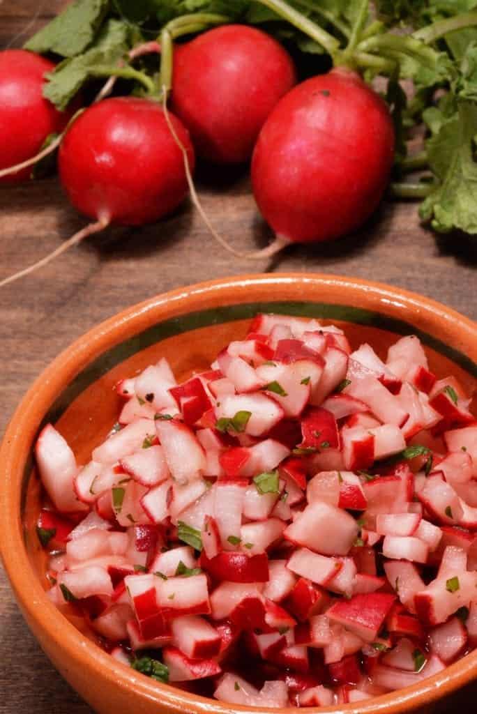 Guatemalan radish salad