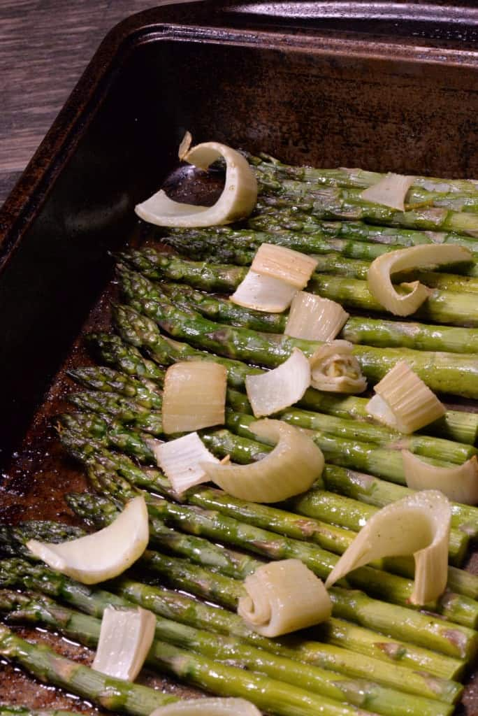 roasted asparagus and fennel