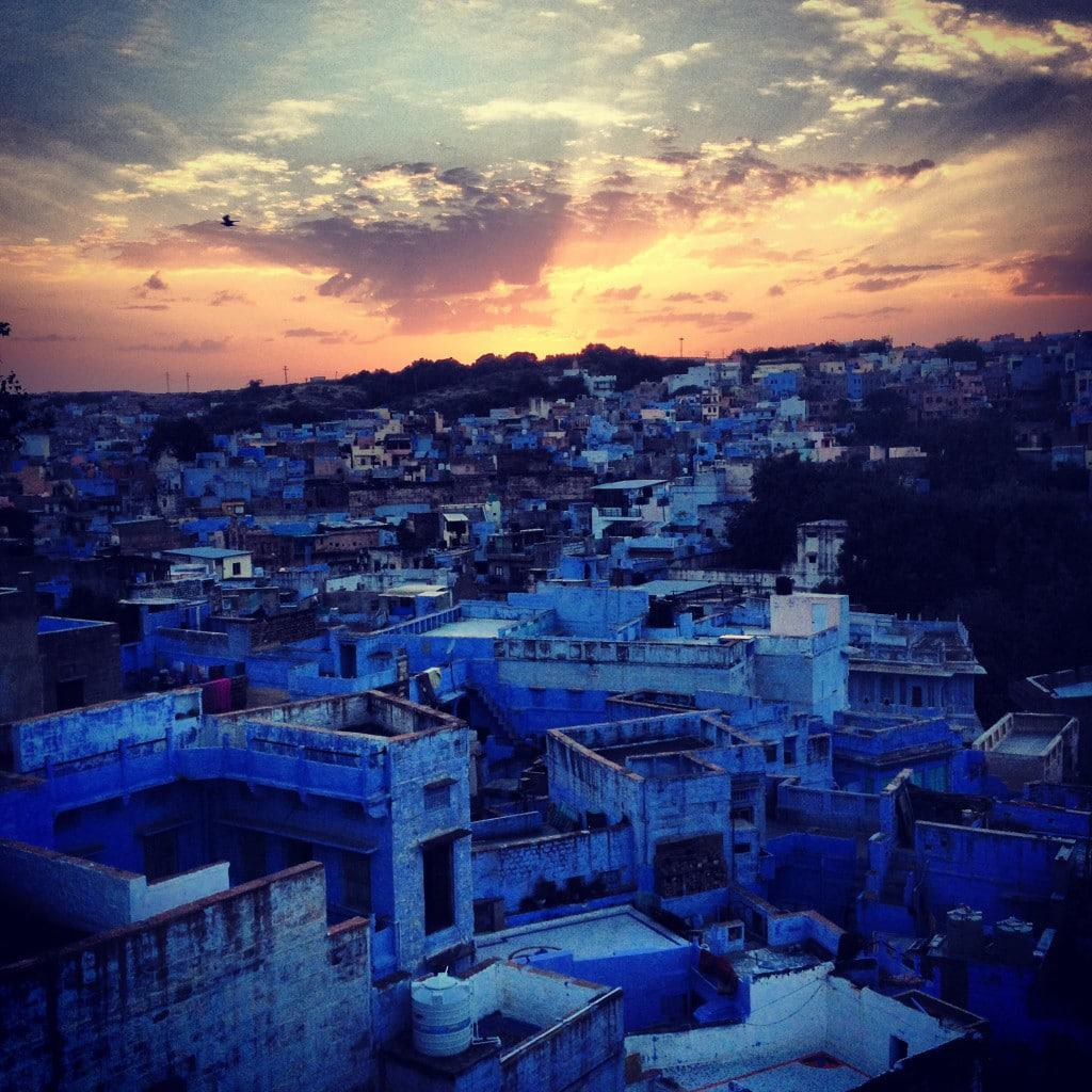 The Blue city in Rajasthan Photo by Eliot Beebe