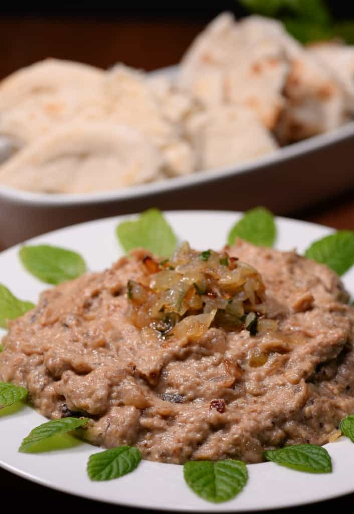 Iranian eggplant and walnut dip