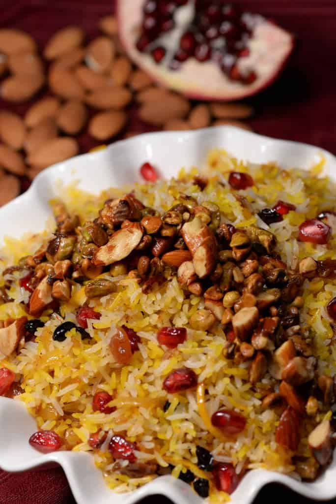 Iranian jeweled rice