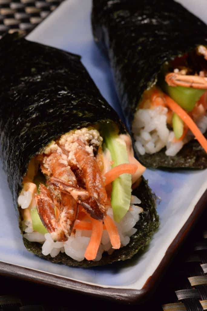 Japanese soft shell crab hand roll