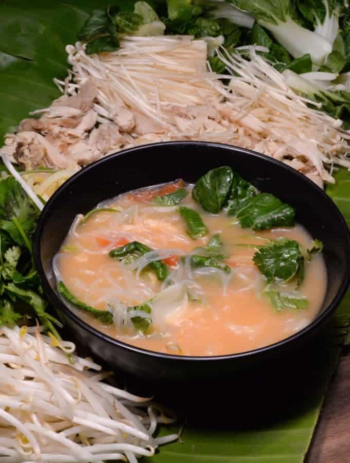 Laotian coconut noodle soup