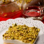 Lebanese milk and bread pudding