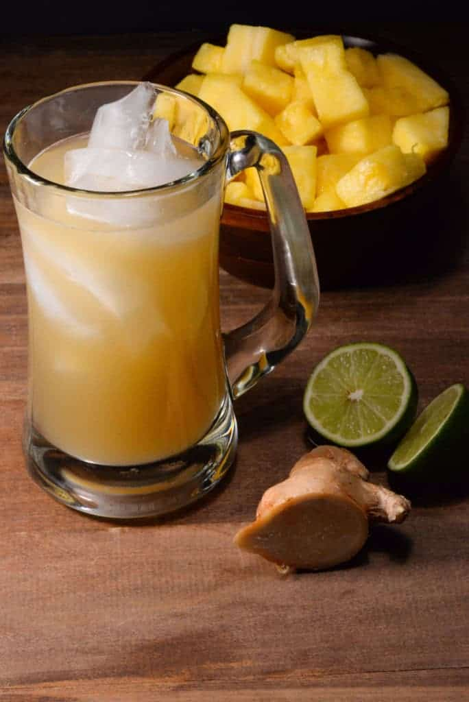 Liberian pineapple ginger beer