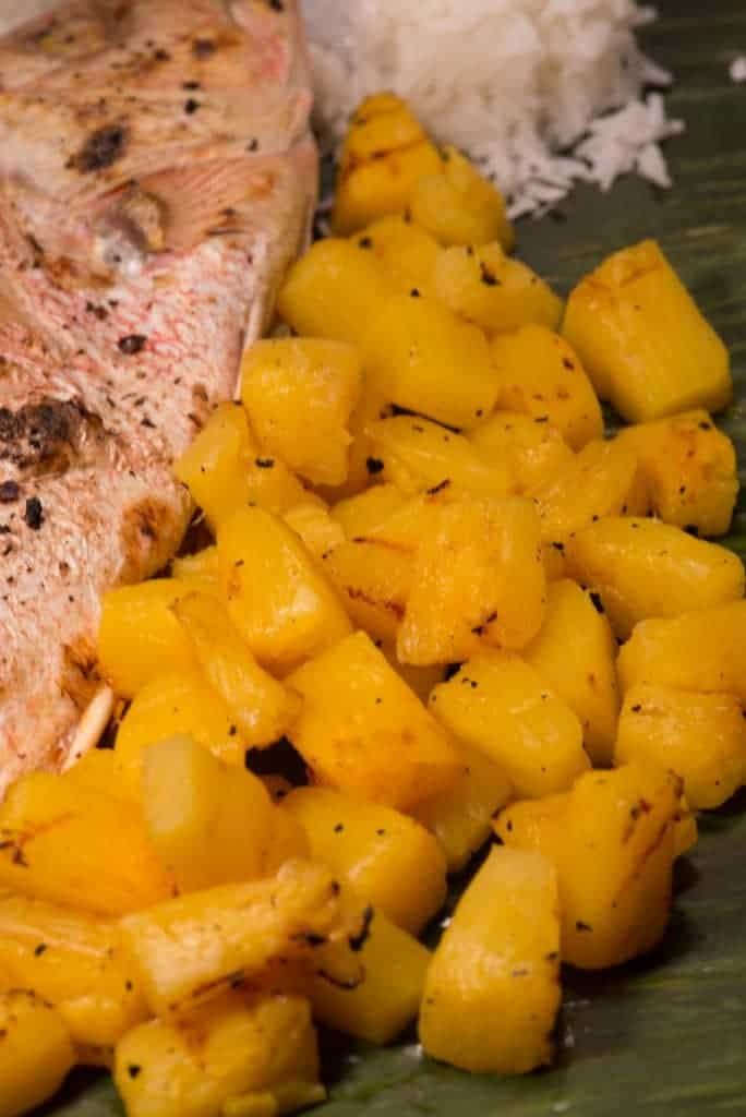Marshallese grilled pineapple