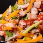 Mauritius octopus salad