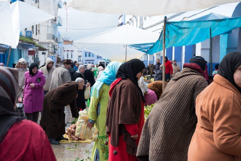 Chefchaouen market day