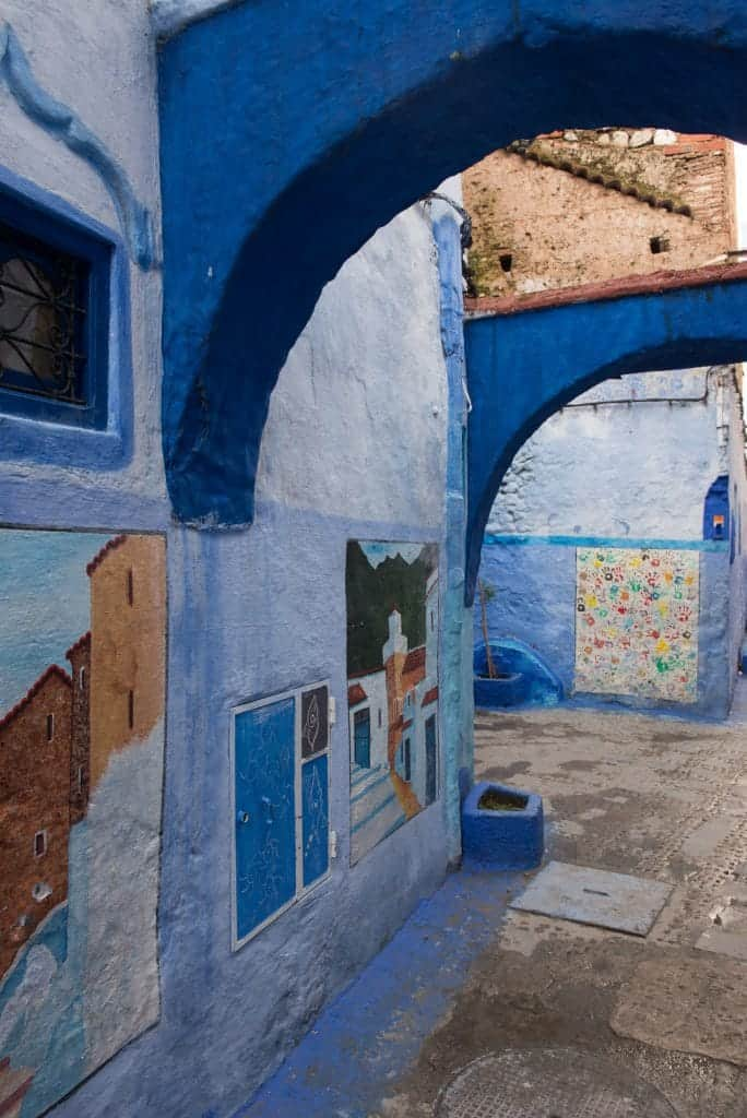 Chefchaouen painted walls
