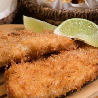 Nauru coconut crusted fish