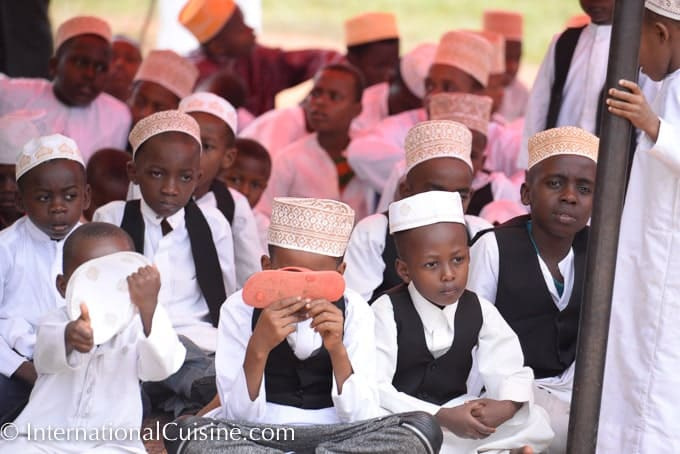 A picture of young Muslim school boys